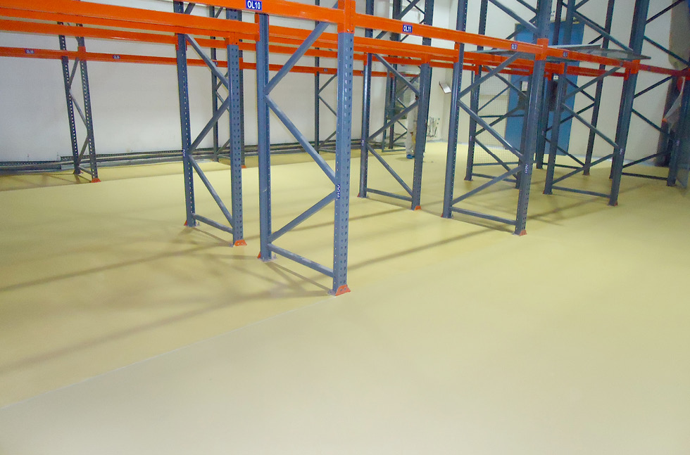 Modern flooring solution for pharmaceutical plant for Abbotts flooring